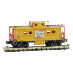 Micro Trains 535 00 480 Z Scale, Center Cupola Caboose, Union Pacific,  UP, 25411