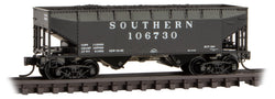 Micro-Trains Line 055 00 590 N 33' Offset Sides, 2-Bay Hopper, with Load, Southern, SOU, 106730