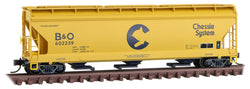 Micro-Trains Line 094 00 660 N, 3 Bay Covered Hopper, Chessie, Baltimore and Ohio, CO, 602259