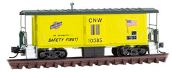 Micro-Trains Line 130 00 280 N, 31' Bay Window Caboose, Chicago North Western, CNW, 10385