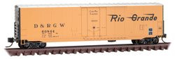 Micro-Trains Line 181 00 150 N, 50' Standard Box Car, Denver and Rio Grande Western, DRGW, 60844