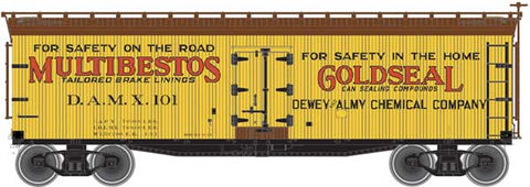 Atlas 50 003 884 N, 40' Wood Reefer, Multibestos Gold Seal, Dewey Almy Chemical Company, DAMX, 104