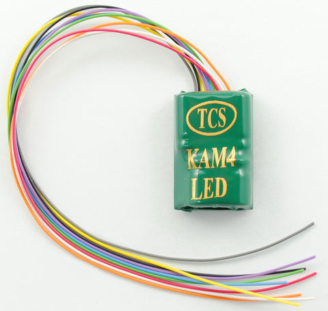Train Control Systems 1479, KAM4-LED DCC Decoder, 4 Function, LED Ready, Built-in KA2 Keep-Alive