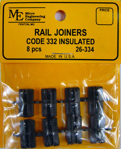 Micro Engineering 26-334 G, Code 332, Plastic Insulated Rail Joiners, 8 per package