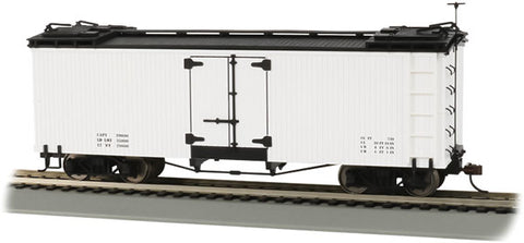 Bachmann 27496 On30, Billboard Reefer, Data Only, White with Black Roof and Ends