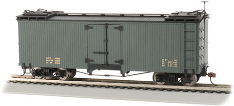 Bachmann 27498 On30, Billboard Reefer, Data Only, Green with Black Roof and Ends
