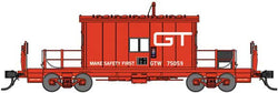 Bluford Shops 24411 N, Transfer Caboose, Short Roof, Grand Trunk Western, GTW, 75059