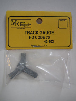 Micro Engineering 42-103 HO Code 70 Track Gauge Metal 3 Point