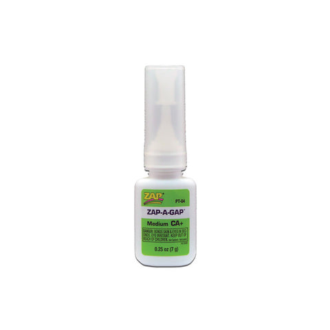 ZAP PT-04 Zap CA+, Medium CA+, Adhesive Glue .25oz (7grams)