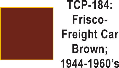 Tru Color TCP-184 Frisco 1944-60s Freight Car Brown Paint 1 ounce