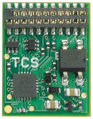 Train Control Systems 1674  EU821, MTC 21-Pin, 8 Function Decoder