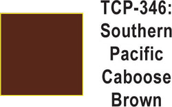 Tru Color TCP-346 Southern Pacific Caboose Brown, Paint 1 ounce
