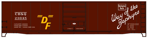 Accurail 5507 HO 50', Steel Boxcar, Burlington, CBQ, 23045