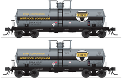 Broadway Limited 6463 HO, 6K Gallon Tank Car, Ethyl Corporation, EBAX, 2 Pack