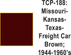 Tru Color TCP-188 Missouri, Kansas, Texas 1944-60s Freight Car Brown Paint 1 ounce