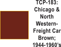 Tru Color TCP-183 Chicago and North Western 1944-60s Freight Car Brown Paint 1 ounce
