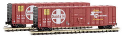 Micro-Trains 511 00 271 Z 50' Rib Side Box Car, Plug Door, Without Roofwalk, ATSF, 521583