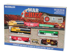 Bachmann 00746 HO, Santa Fe Flyer Diesel Set, Santa Fe F Unit with 3 Cars