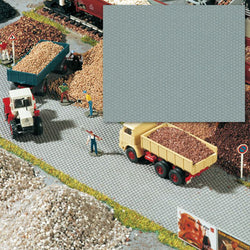 Busch 7088 HO Scale Flexible Cobblestone Area, Gray, Adhesive Back, 56cm x 33cm
