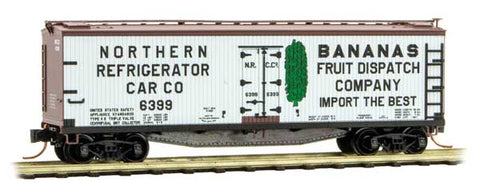 Micro Trains 049 00 780 N 40' Double-Sheathed Wood Reefer, Northern Refrigerator Car Company, NRCC, 6399