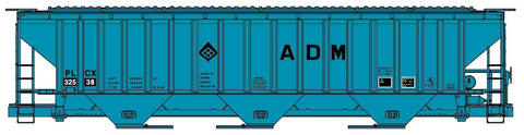 Accurail 8114.3 HO, Pullman Standard Covered Hopper, Archer Daniels Midland, PLCX, 32538