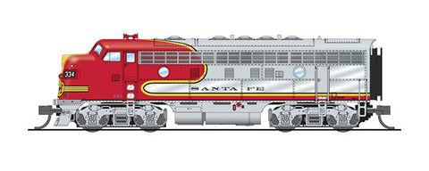 Broadway Limited 3801 N, EMD F7A, Paragon 3 Sound, Santa Fe, ATSF, 334L