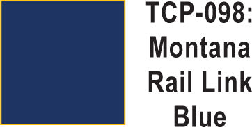 Tru Color TCP-98 Montana Rail Link Blue Paint 1 ounce