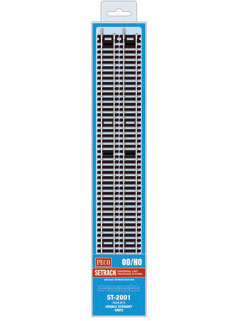 Peco ST-2001 HO, Code 100 Double Straight Units, 8 Pack, 13.375""