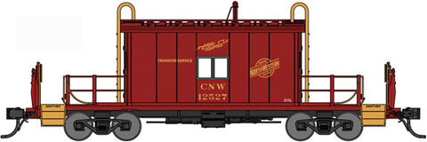 Bluford Shops 25090 N, Transfer Caboose, with Running Boards, CNW, 12527
