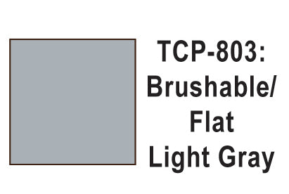 Tru-Color TCP-803 Flat Light Gray Paint 1 Fluid Ounce