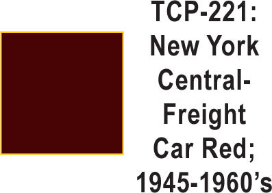Tru-Color TCP-221 New York Central 1945-60's Freight Car Red 1 Fluid Ounce