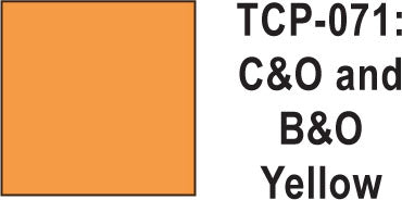 Tru Color TCP-71 Chesapeake and Ohio, Baltimore and Ohio Yellow Paint 1 ounce