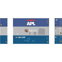 Athearn 17645 N, 40' High Cube Container, Assortment, 3 Pack