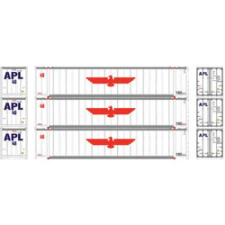 Athearn 17677 N, 48' Container, American President Lines, APLU, 3 Pack