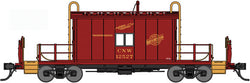 Bluford Shops 25091 N, Transfer Caboose, with Running Boards, Red Paint Scheme, Chicago North Western, CNW, 12520