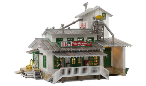 Woodland Scenics 4949 N H n H Feed Mill, Built Up, LED, Lighted