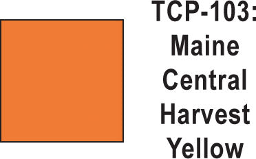 Tru Color TCP-103 Maine Central Harvest Yellow Paint 1 ounce