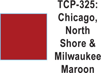 Tru Color TCP-325 Chicago North Shore and Milwaukee, Maroon Paint 1 ounce