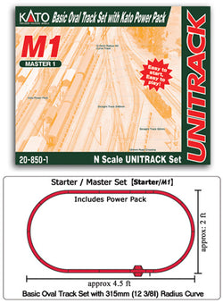 Kato 20-850-1 N M1 Basic Oval Track Set and Power Pack