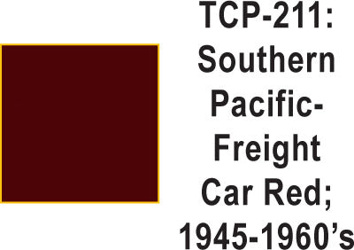 Tru Color TCP-211 Southern Pacific 1945-60's Freight Car Red Paint 1 ounce