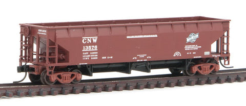 Atlas 50 003 546 N, 70 Ton Hart Ballast Car, Chicago Northwestern, CNW, 13576
