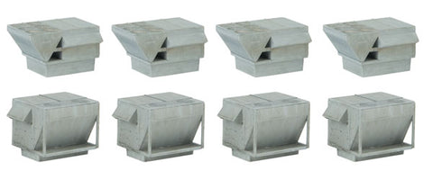 Walthers 933-4077 HO, Gray Plastic HVAC Units, Kit