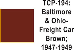 Tru Color TCP-194 Baltimore and Ohio 1947-49 Freight Car Brown Paint 1 ounce