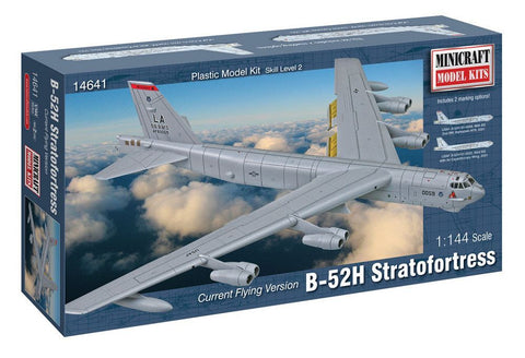 Minicraft Models 14641 1/144 Scale USAF B-52H, Current Flying Version