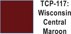 Tru Color TCP-117 Wisconsin Central Maroon Paint 1 ounce