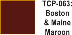 Tru Color TCP-63 Boston and Maine Maroon Paint 1 ounce