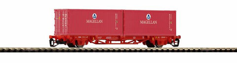 Piko 47711 TT Flat Car with 2 Containers Magellan