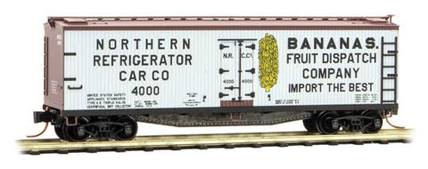 Micro Trains 049 00 790 N 40' Double-Sheathed Wood Reefer, Northern Refrigerator Car Company, NRCC, 4000