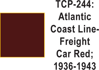 Tru Color TCP-244 Atlantic Coast Line 1935-50's Freight Car Red 1 ounce