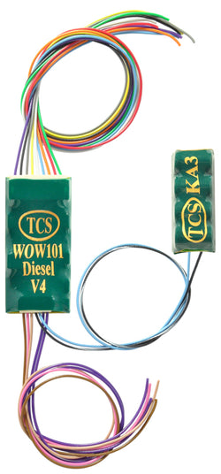 Train Control Systems 1533 WOW101-KA Diesel Sound Decoder, 6 Function